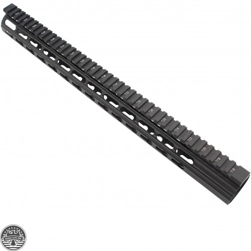AR10 SLIM KEYMOD FREE FLOAT CLAMP-ON STYLE HAND GUARD W/DETACHABLE RAILS/16.5""