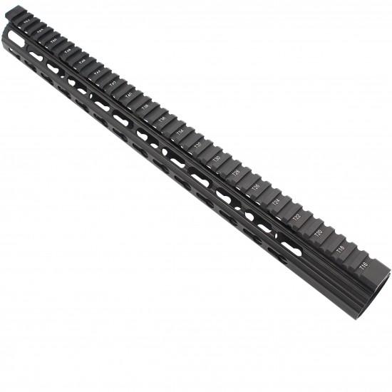 "AR-10 / LR-308 16.5"" Slim Keymod Free Float Clamp-On Style Hand Guard W/ Detachable Rails"