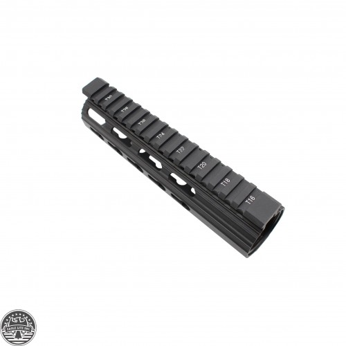 AR10 SLIM KEYMOD FREE FLOAT CLAMP-ON STYLE HAND GUARD W/DETACHABLE RAILS/7""