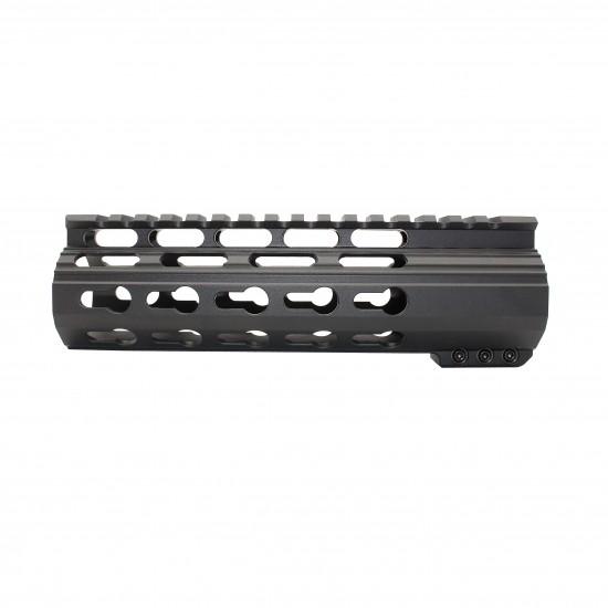 "AR-10 / LR-308 7"" Slim Keymod Free Float Clamp-On Style Hand Guard W/Detachable Rails"