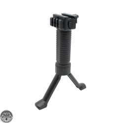 Military Tactical Fore Grip Bipod Pod Picatinny Weaver Rail Rifle Foregrip