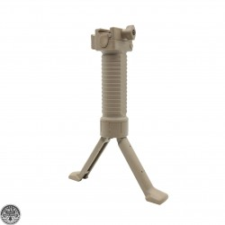 Tactical Foregrip /Bipod W/ Rail Attachment -FDE