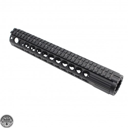AR 15 KEYMOD FREE FLOAT HAND GUARD W/DETACHABLE RAILS/12""