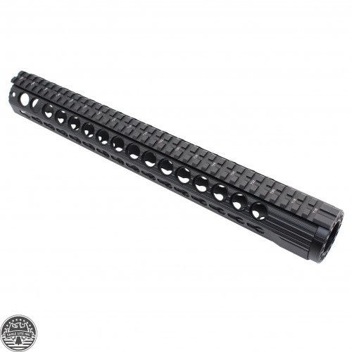 AR 15 SLIM KEYMOD FREE FLOAT HAND GUARD W/DETACHABLE RAILS/15""