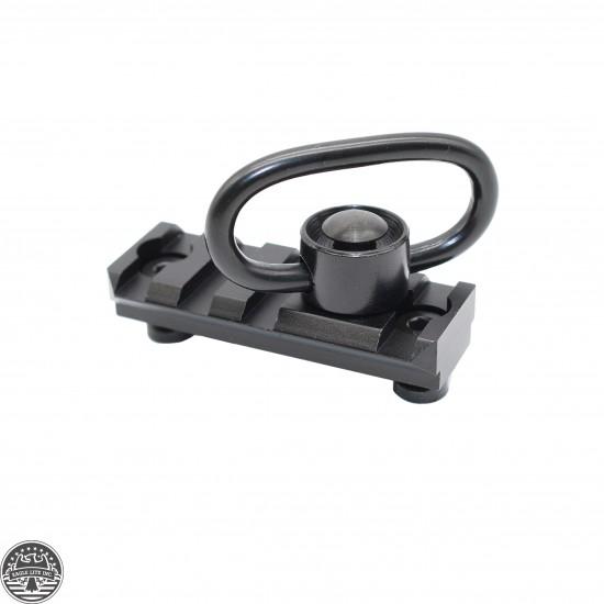 2 Inch 4 Slot Tactical Keymod Rail with Quick Detach Sling Swivel .223/5.56/.308