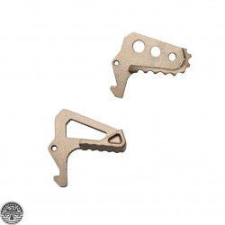Oversize Skeleton or Squared Charging Handle Latch -FDE