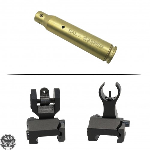 AR Platform Iron Sight and AR-15 Cartridge Laser Bore Sight