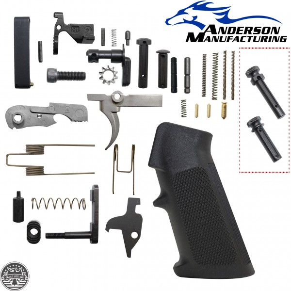 AR-15 Anderson Manufacturing Lower Parts Kit W/ Extended Grip Pivot And Takedown Pin