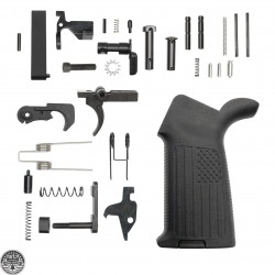 AR-15 Lower Receiver Parts Kit W/ A2 'USA FLAG' Pistol Grip