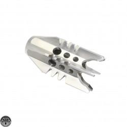 """AR 9MM Rocket Man Flash Hider 1/2x36"""" Thread Pitch - Stainless Steel"""