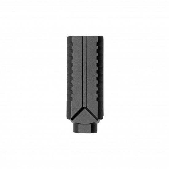AR-15 Muzzle Diverter Steel Flash Can - Black