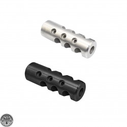 AR-15 Stainless Steel Competition Cylinder Muzzle Brake Or Nitride Finish