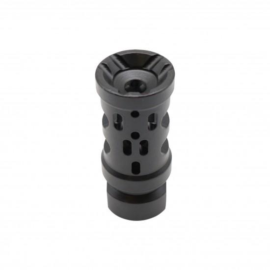 Cerakote BLACK | AR-15 Multi Ported Compensator Upsilon Muzzle Brake