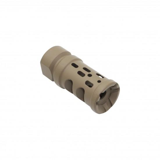 Cerakote FDE |AR-15 Multi Ported Compensator Upsilon Muzzle Brake