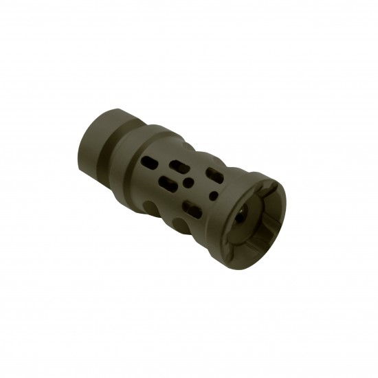 Cerakote OD-Green |AR-15 Multi Ported Compensator Upsilon Muzzle Brake