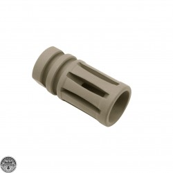 Cerakote FDE | AR15 1/2x28 Birdcage Muzzle Brake W/ Crush Washer