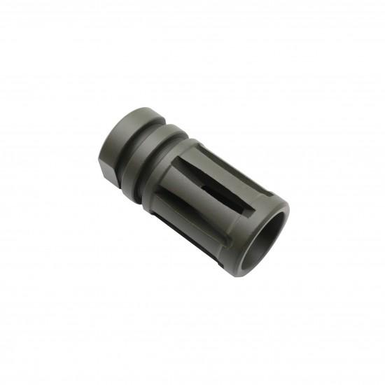 Cerakote OD-Green | AR-15 1/2x28 Birdcage Muzzle Brake W/ Crush Washer