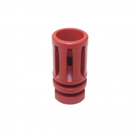 Cerakote Red | AR-15 1/2x28 Birdcage Muzzle Brake W/Crush Washer
