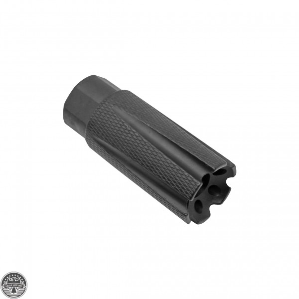 "AR-15 6 Ports Low Concussion Muzzle Brake Compensator For 1/2""x28 Pitch TPI Knurled"