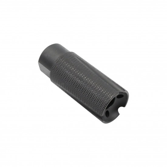 """AR-15 Low Concussion Muzzle Brake Compensator For 1/2""""x28 Pitch TPI Knurled -3 ports"""