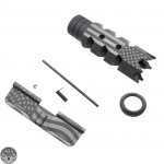 AR-15 American Flag Laser Combo | .223 5.56 Nato Steel Shark Muzzle Brake And Dust Cover