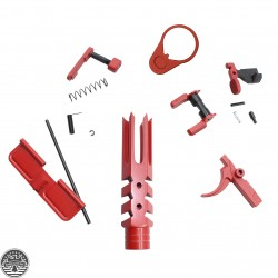 "Cerakote Red | AR-15 ""Reaper"" Kit Parts"