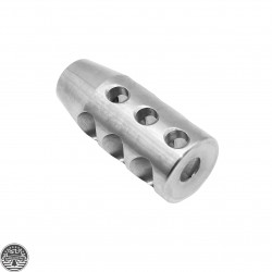 AR-15 .223 Compact Stainless Steel Muzzle Brake 1/2x28