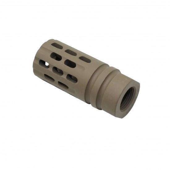 Cerakote FDE| AR-15 Rifle Multi Ported Flash Suppressor Muzzle Brake