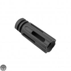"""AR 9MM 3 Port Flash Hider - 1/2""""x36 Thread Pitch"""