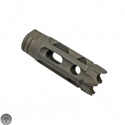 AR-15 1/2X28 Steel 10 Holes Custom Muzzle Brake -BLEMISHED
