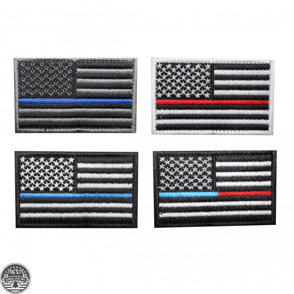 Thin Line American Flag Patch