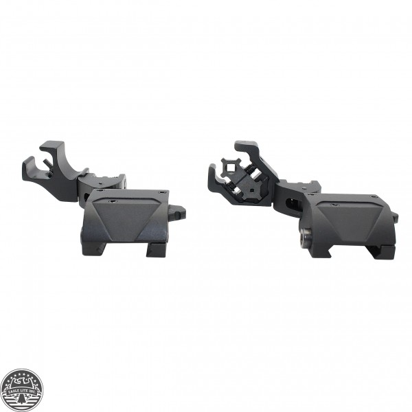 45 Degree Offset Flip Up Front & Rear Iron Sight Set Sights