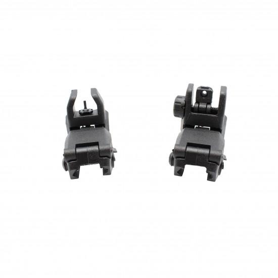 """T-Series Free Float 7"""" Quad Handguard W/Flip Up Sights"""