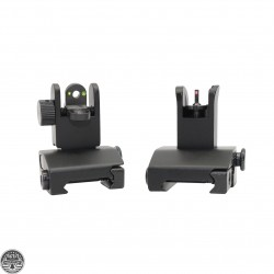AR-15 Mini Flip Up Front and Rear Sight W/Green and Red Dots