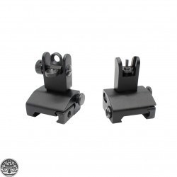 AR-15 Mini Flip Up Front and Rear Sight