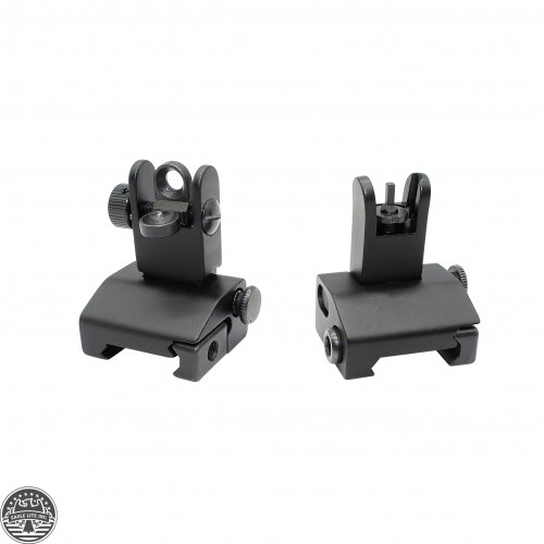 AR15 Mini Flip up Front and Rear Sight