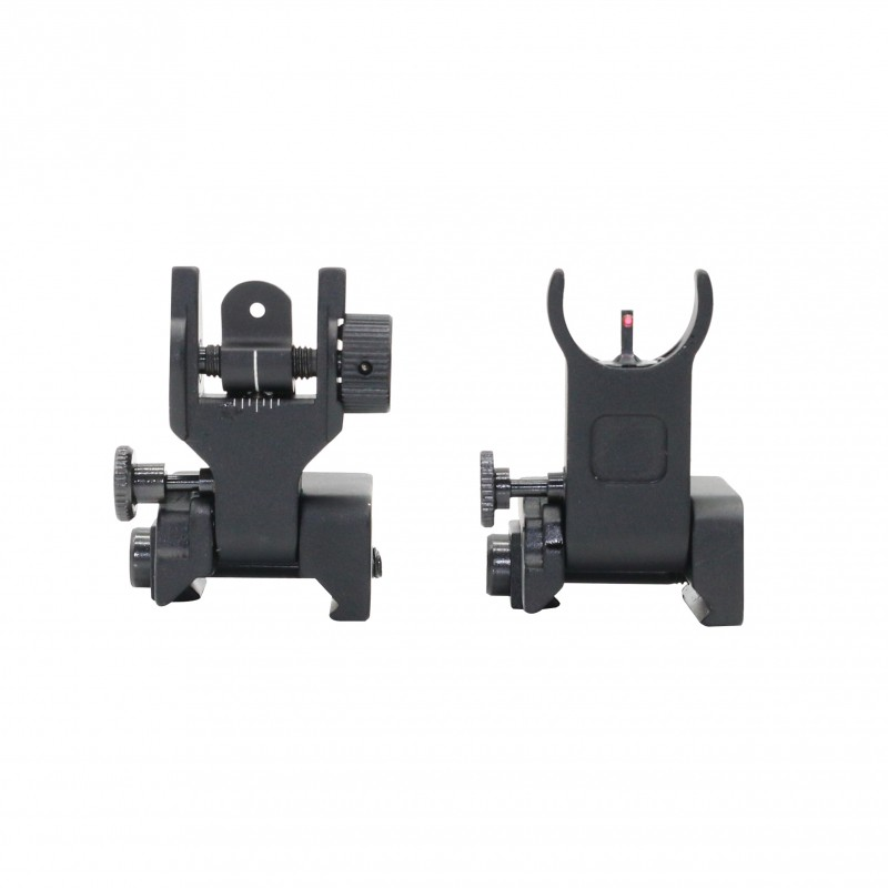 Ar 15 Front And Rear Flip Up Sights Green And Red Dots