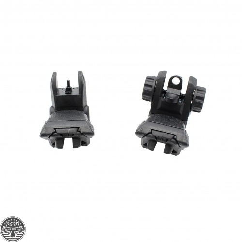 Front and Rear Polymer Flip-Up Sights