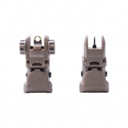 AR Fiber Optics Sights Red and Green Dots -TAN
