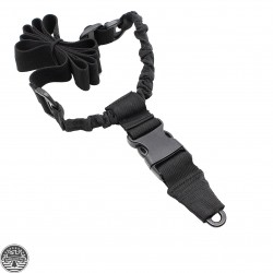Black Tactical Single Point QD Bungee Rifle Sling