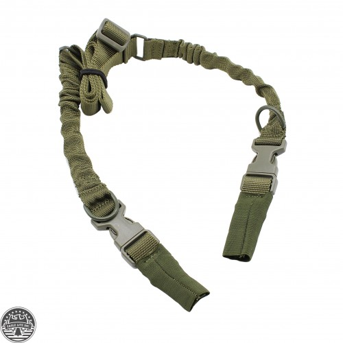 Tactical HK Style 2-Point Adjustable Rifle Bungee Sling W/ Quick Release Green