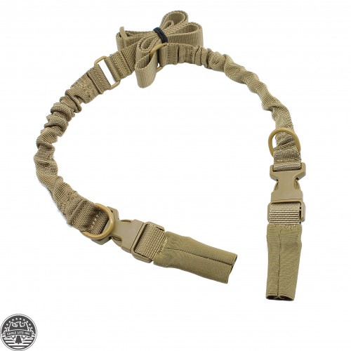 Tactical HK Style 2-Point Adjustable Rifle Bungee Sling W/ Quick Release Tan