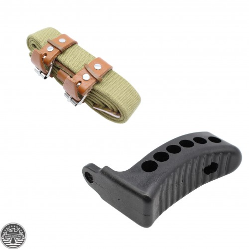 "Mosin Nagant Rifle Sling + 1"" Rubber Recoil Butt Pad"
