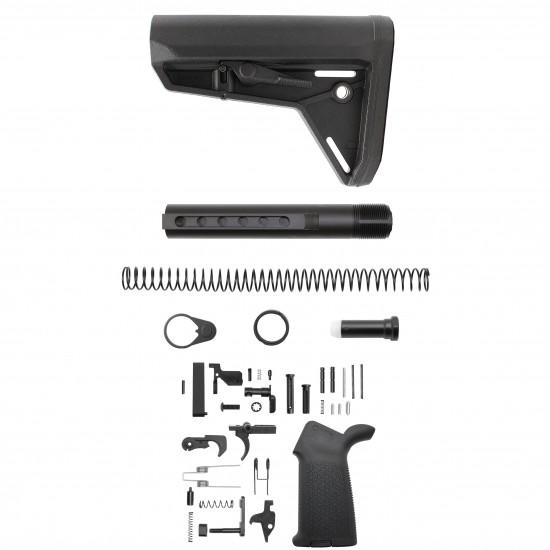 AR-10 / LR-308 Custom Lower Build Kit W/ MAGPUL MOE Stock and Pistol Grip   Mil-Spec