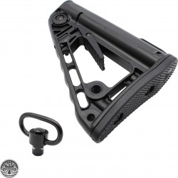 Rogers Super-Stoc Deluxe AR-15 Collapsible Stock W/ QD Swivel - Made In U.S.A