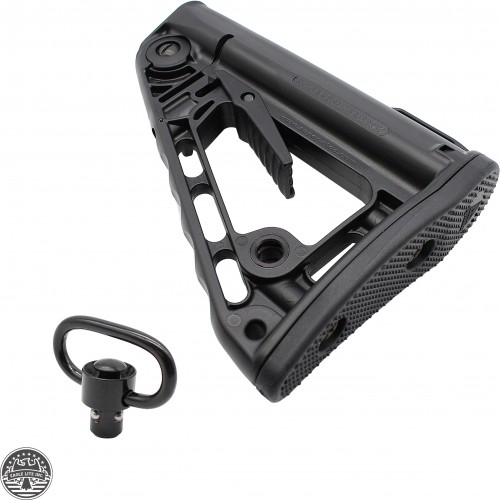 Rogers Super-Stoc Deluxe AR-15 Collapsible Stock w/ QD Swivel - Made in U.S.A.