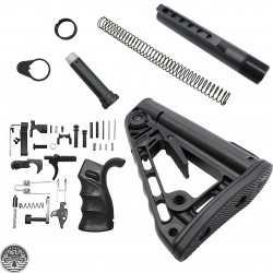 Mil-Spec Buffer Tube Assembly w/ Rogers Super-Stoc w/ AR-15 Ambidextrous Lower Receiver Parts Kit