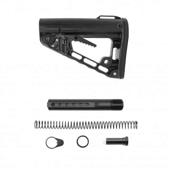 AR-10 / LR-308 Rifle Carbine 6 Position Buffer Tube Kit With Rogers Super-Stoc Deluxe Collapsible Buttstock | Mil-Spec