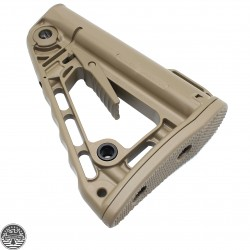 Rogers Super-Stoc Deluxe AR Collapsible Stock (W/ QD Port)-Flat Dark Earth - Made In U.S.A