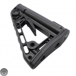 Rogers Super-Stoc Deluxe AR Collapsible Stock (W/QD Port) | Made In U.S.A.